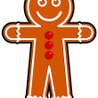 Stock Vector: Gingerbread man