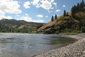 Shoreline at Clearwater River in Idaho — Stock Photo