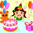 Royalty-Free Stock Vector Image: Happy birthday girls