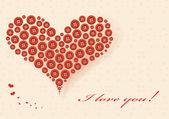 Romantik kalp — Stok Vektör