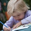 Little artist — Stock Photo