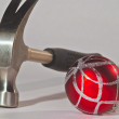 Hammer and red ball - ストック写真