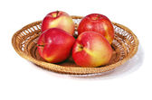 Apples in a basket — Stock Photo