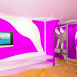 Постер, плакат: Creative room in lilac color