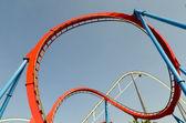 Loop roller coaster — Stock Photo