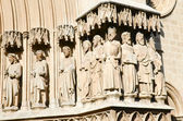 Statues on the cathedral of Tarragona, Spain — Stock Photo