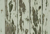 Green peeling wooden wall — Stock Photo