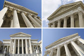 Collage of courthouse — Stock Photo