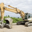 Stock Photo: Excavator caterpillar