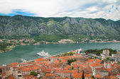 Harbor of old Adriatic city — Stock Photo