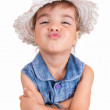 Beautiful Little Girl with Hat — Stock Photo #12225732