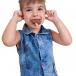 Little curly girl with ice cream — Stock Photo #12299463