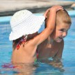 Children playing in pool — Stock Photo