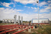 Industrial pipelines and valve — Stock Photo