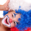 Little clown boy - portrait — Stock Photo