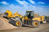 Loader excavator construction machinery equipment — Stock Photo