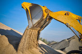 Loader excavator construction machinery equipment — Stock Photo