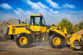 Equipamentos de maquinaria de construção de escavadeira carregador — Foto Stock
