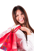 Girl in shopping — Stock Photo