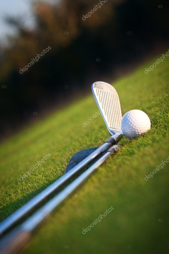 Golf club and ball  Stock Photo #13889165