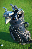 Golf clubs in golfbag — Stock Photo