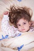 Sweet happy little girl sleeping — Photo