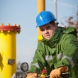 Stock Photo: Gas Production Operator