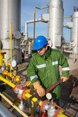 Gas Production Operator — Stock Photo