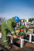 Gas Production Operator — Stockfoto