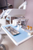 Dental clinic interior design with chair and tools — Stock Photo