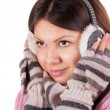 A beautiful young woman dressed for winter — Stock Photo