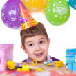Kids celebrating birthday party — Stock Photo #17990033