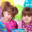 Kids celebrating birthday party — Stock Photo #17990073