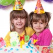 Kids celebrating birthday party — Stock Photo #18118903