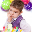 Kids celebrating birthday party — Stock Photo #18130093