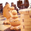 Concept of chess game with pieces — Stock Photo