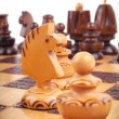 Concept of chess game with pieces — Stock Photo #18333749