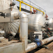 Oil and gas industry tanks — Stock Photo