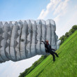 Stock Photo: Parachutist