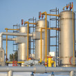 Gas storage and pipeline — Stock Photo