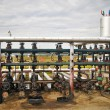 Gas storage and pipeline — Stockfoto