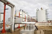 Gasspeicherung und pipeline — Stockfoto