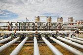 Canalización y almacenamiento de gas — Foto de Stock