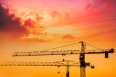 Industrial construction cranes — Foto Stock