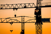 Industrial construction cranes — Stockfoto