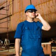 Shipyard worker — Stock Photo #24647613