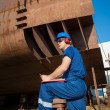 Shipyard worker — Stock Photo