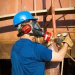 Shipyard worker — Stock Photo #24726971