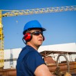Shipyard worker — Stock Photo #24727169