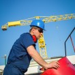 Shipyard worker — Stock Photo #24867029